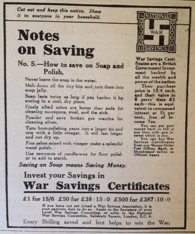 saving ad